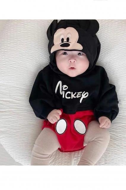 Бебешко Боди дълъг ръкав Мики Маус