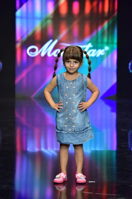 Детска Дънкова рокля с раничка