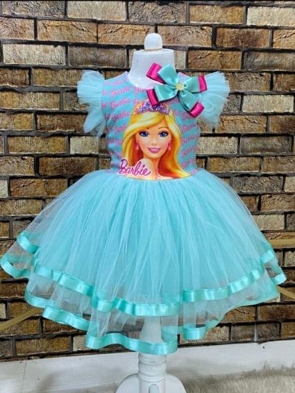 Детска Рокля къс ръкав Barbie