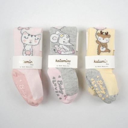Бебешки Чорапогащник бебе момиче 3 броя