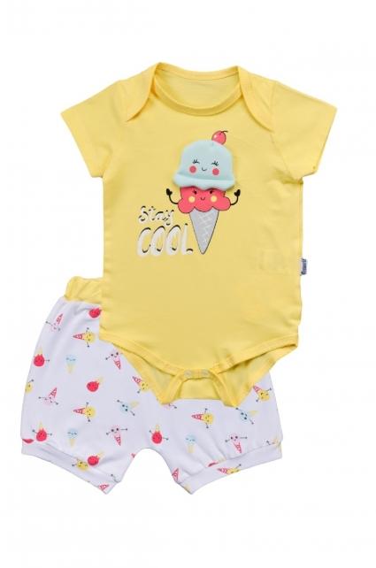 Бебешки Комплект боди с къси панталонки