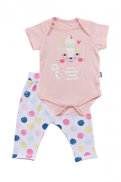 Бебешки Комплект боди с панталонки