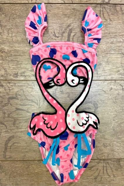 Детски Бански момиче Фламинго
