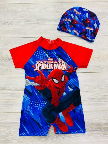 Детски Бански с шапка Spiderman