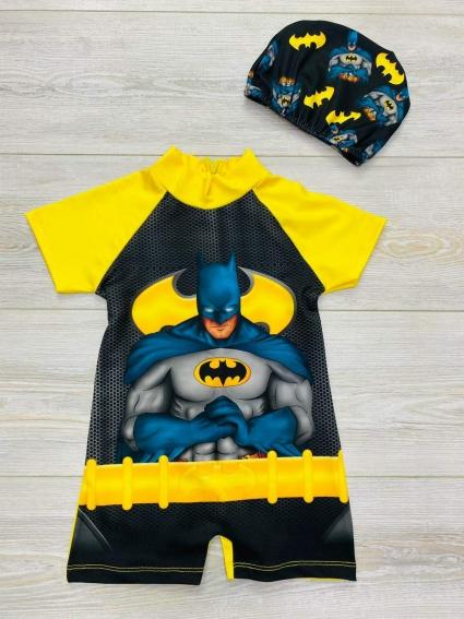 Детски Бански с шапка Batman