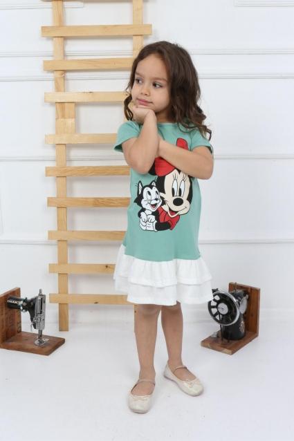 Детска Рокля къс ръкав Мини Маус