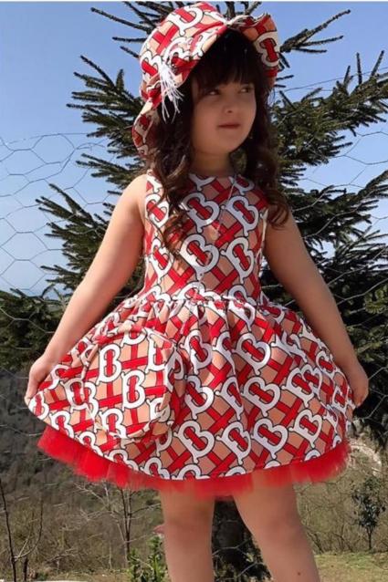 Детска Официална рокля с шапка