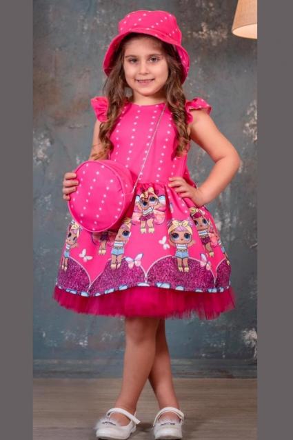 Детска Официална рокля с шапка LOL