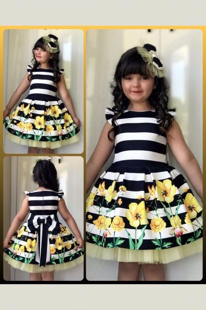 Детска Официална рокля Цвете