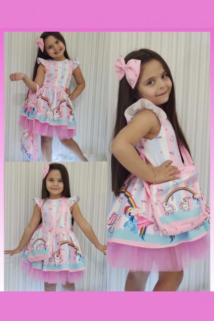 Детска Официална рокля Еднорог