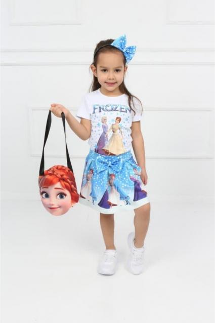 Детски Комплект момиче къс ръкав Frozen - 4 части
