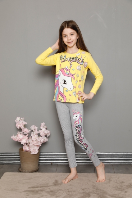 Детска Пижама момиче дълъг ръкав