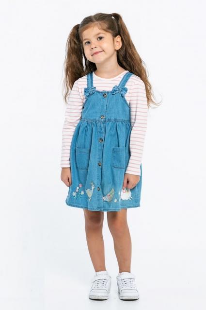 Детски Сукман с блуза момиче дълъг ръкав
