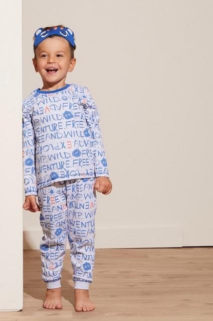 Детска Пижама момче дълъг ръкав 3 части