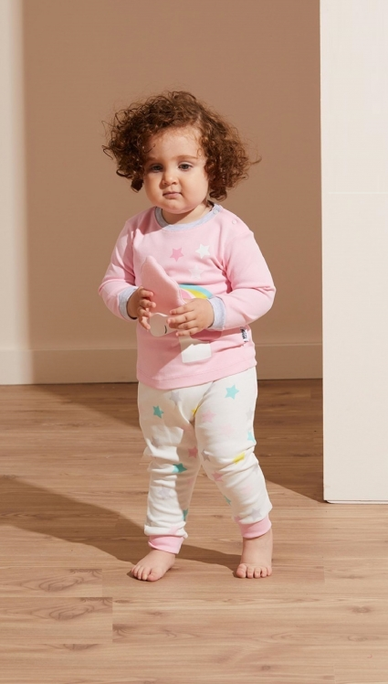 Бебешка Пижама момиче дълъг ръкав 3 части