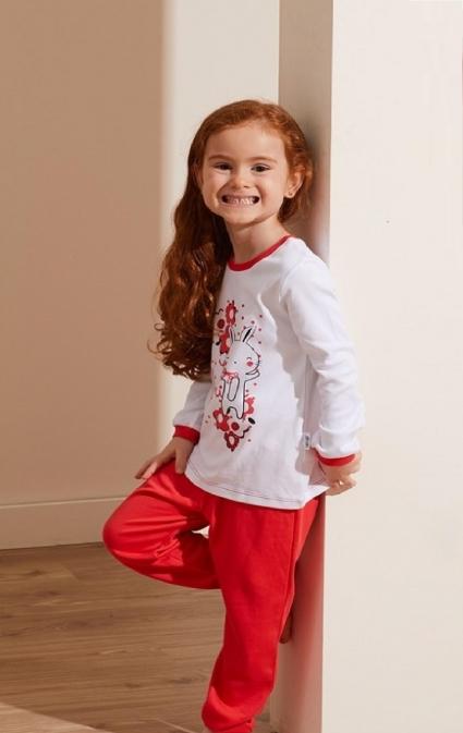 Детска Пижама момиче дълъг ръкав 3 части