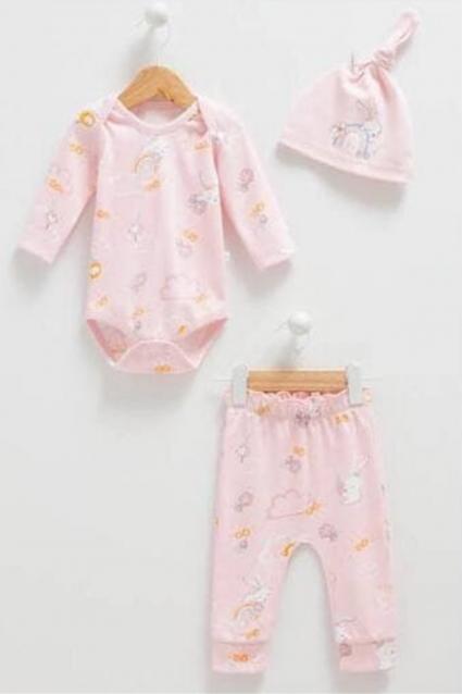 Бебешки Комплект момиче дълъг ръкав 3 части