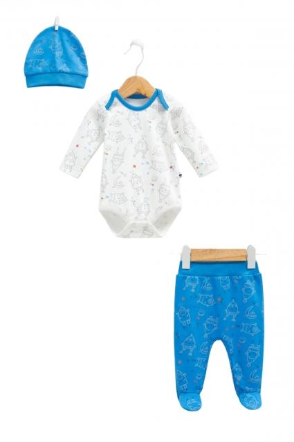 Бебешки Комплект момче дълъг ръкав 3 части